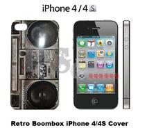 Ghetto Blaster BOOM BOX IPHONE 4 4S 4G Premium Hard Cover Protector ANNI'80 NUOVO