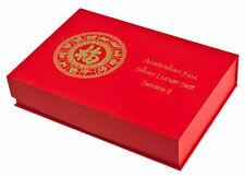 Serie Lunar II Caja monedas / de para 12x 5 Onza Plata Cabra Mono Dragón