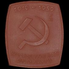 KOMMUNISMUS: Porzellan-Plakette 1959. COMMUNISTISCHE PARTIJ VAN NEDERLAND - CPN.