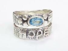 woman Bohemian designer jewelry Sterling silver Hippie ring for