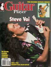 Guitar Player Magazine October 1986 Steve Vai Michael Hedges Alex Malheiros Tab