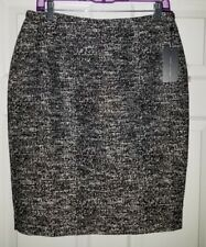 $89 NWT Tommy Hilfiger Black White Womens Straight Pencil Textured Skirt Size 8