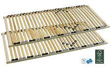 2x7-Zonen-Lattenrost starr 90x200 cm mit individueller Härtegradverstellung