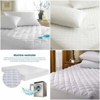 WATERPROOF QUILTED MATTRESS 100%COTTON PROTECTOR FITTED SHEET SINGLE DOUBLE KING