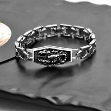 Stainless Steel Bracelets Men Scorpion Charms Men Bracelets Punk Man Bracelets