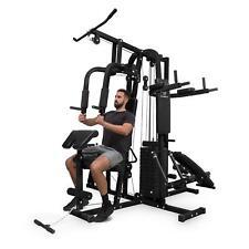 Station Fitness Musculation Multifonction Machine Sport Corps Gym Appareil Noir