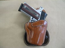"""1911 Compact 3 - 3.5""""  AZULA  All Leather Molded Paddle Gun Holster CCW TAN RH"""