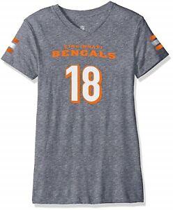 NFL Cincinnati Bengals A.J. Green Youth Girls Grey Tri-Blend Short Sleeve Shirt