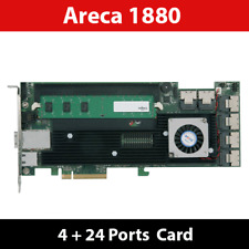 Areca ARC-1880IX-24 1GB Cache  4 + 24 Ports 6Gb/s SAS/SATA RAID Card
