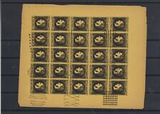 Romania superb sheet of 25x Fournier  (Y79)