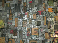 Lot of 50 VTG Metal Wood LETTERPRESS Print Type Block Alphabet Letters & Numbers