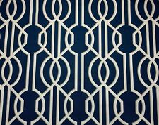MAGNOLIA HOME FASHIONS DECO NAVY TRELLIS Upholstery Drapery Fabric By The Yard