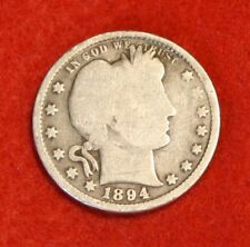 1894-P 25C BARBER QUARTER G 90% SILVER COLLECTOR COIN GIFT BQ410