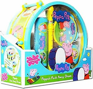 Peppa Pig 5 In 1 Musical Instruments Pack Away Kids Drum Toy Set