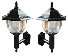 2 x SOLAR POWERED LED VICTORIAN  WALL LIGHTS LAMPS - NO WIRES!! SLWALL2