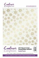 Crafter's Companion Scrapbooking Craft Snowflake Vellum - Gold (160gsm)
