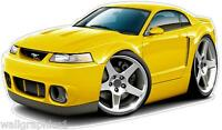 Ford Mustang SVT Cobra 99-04 Wall Decals Graphics Man Cave Garage Stickers