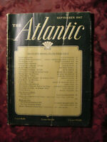 ATLANTIC September 1947 Wallace Stegner Jan Juta Osbert Sitwell Edwin O'connor