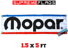 Mopar Banner Flag Racing Chrysler Automobiles Motor Parts (18x58 in)