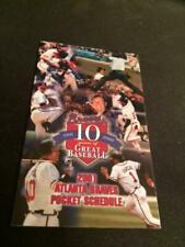 4-Fold Lot of 2-2019 Atlanta Braves Pocket Schedules