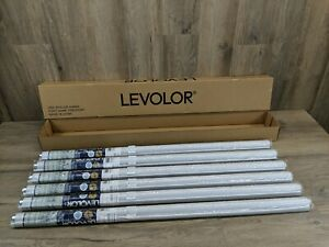 "Box of 6 LEVOLOR  Window Roller Room Darkening Shade 37 1/4"" x 78"" White (#146)"