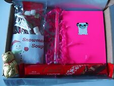 Pug Dog notebook pen chocolate lindt hamper - birthday maltesers Christmas gift