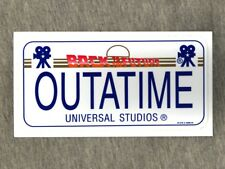 NEW Back to the Future OUTATIME Decal Universal Studios Hollywood 2007 UNUSED