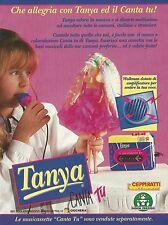 X7319 Tanya Canta Tu - Giochi Preziosi - Pubblicità 1994 - Vintage advertising