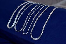 Exclusive Lot !! 20 PCs. Fish Hook 925 Sterling Silver Plated Necklace Chain