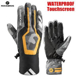 ROCKBROS Winter Warm Cycling Gloves Windproof Waterproof Touchscreen Bike Gloves