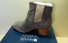 NEW Sperry Top-Sider Marlow Gray Suede Ankle Booties 9599515 Womens Sz 10M