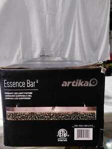 Artika Essence Bar 28-Watt Integrated LED Chrome Pendant