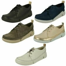 Ladies Clarks Casual Lace Up Trainers Tri Clara
