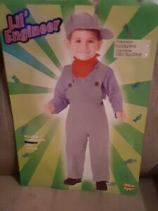 Toddlers Train Engineer Costume Size Toddler (2-4)