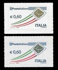 Rara varietà Letterina Dorata  Posta Italiana Busta Oro € 0,60 2v** 2009 2010