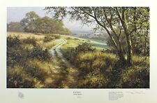 "DAVID DIPNALL ""Evening on the Downs"" country SIGNED LTD SIZE:45cm x 64cm NEW"