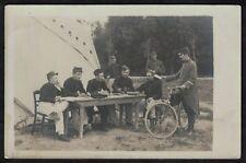 Cpa Carte Photo Guerre 82e RI Infanterie de Montargis Troyes avec facteur