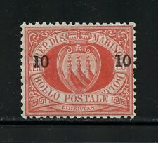 P055   San Marino  1892  Coat of Arms SURCHARGED  1v.  MH