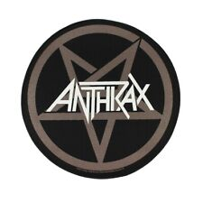 Xlg Anthrax Pentagram Back Patch Logo Heavy Metal Music Band Sew On Applique
