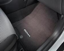 OEM 2018 Hyundai Kona CARPET FLOOR MATS, COMPLETE SET OF FOUR (J9F14AC000)