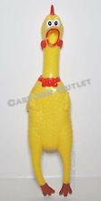 "RUBBER CHICKEN ROOSTER 12"" SHRILLING SCREAMING GAG NOVELTY GIFT PETS TOY NWT"