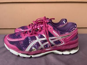 RARE ASICS Gel-Kayano 22 Purple Pink Running Shoes Sneakers Women US 11 T597N D5