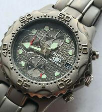 FOSSIL BLUE RARE WR200 TITANIUM CHRONOGRAPH WATCH,TI-5010,WORKING,40mm