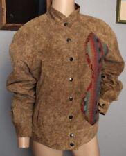 VTG 80's Koos Van Den Akker Patchwork Suede Leather Bomber Baseball Jacket S M
