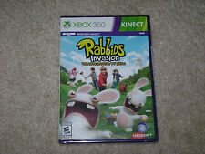 RABBIDS INVASION THE INTERACTIVE TV SHOW..XBOX 360 KINECT..**SEALED**BRAND NEW**