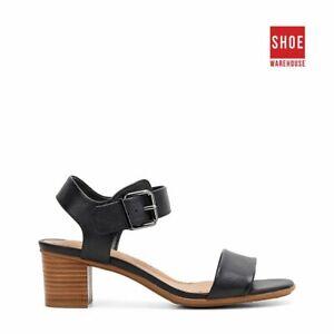 Hush Puppies OLIVIA Black Womens Heels Dress/Formal Leather Heels