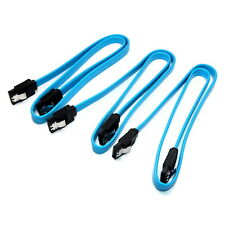 3x 50cm SATA 3 6GB High Quality Locking Blue Serial ATA HDD SSD Data Cable Lead