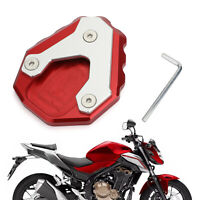 Side Stand Extension Kickstand Enlarger Plate For HONDA CB500X 2019 Red T5