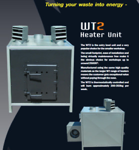 WT 2 Wood burning Heater . Burn wood waste and blow hot air into your workshop