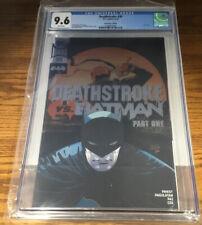 DC COMICS DEATHSTROKE VS. BATMAN #30 CONVENTION FOIL EXCLUSIVE CGC GRADED 9.6